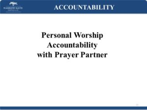 Prayer For Accountability in Our Christian Life