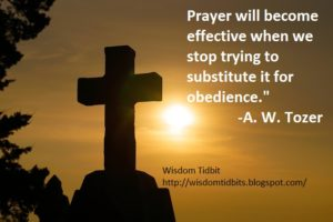 Prayer For Daily Obedience