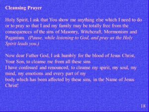 Cleansing Prayer Of A Careless Christian