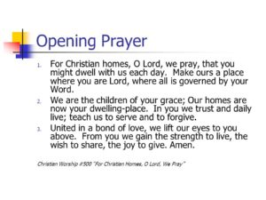 Opening Prayer For A Christian Conference