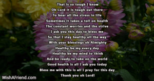 Prayer For Stress In The Family