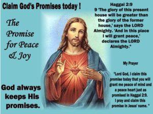 Prayer For God's Promise Of Peace