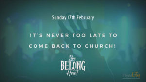 For the Church to come back to you