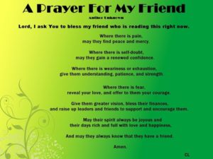 Prayer Of Healing For A Sick Friend
