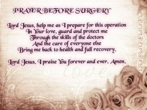 Prayer For My Recovery Following Surgery