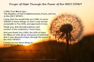 Prayer For Hope in God