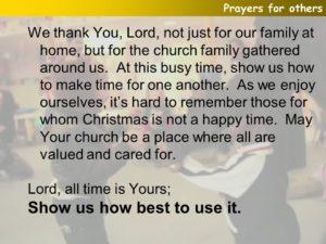 Prayer Of Gratitude For the Church Family