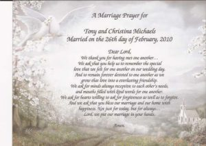 Prayer For A Couple's First Wedding Anniversary