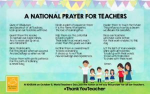 Prayer Of Gratitude For Teachers