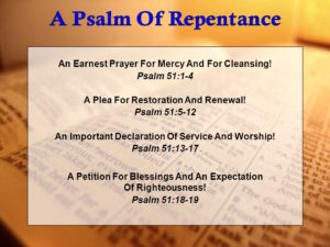Earnest Prayer  For Forgiveness Of Sins