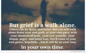 Grief Due To Loss Of A Loved One