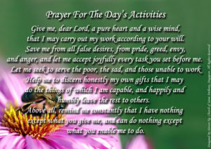 Prayer For Restful Holiday