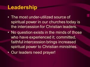 For Christians in Leadership Positions