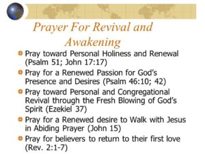 Prayer For Revival In Our Land