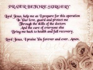 Prayer For  A Friend Facing Surgery