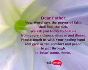 Prayer For The Recovery For A Sick Child