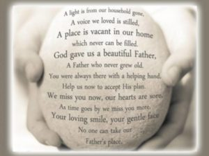 Prayer For Loss Of My Father
