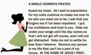 Single Woman's Marriage Prayer