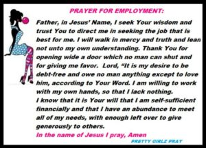 Prayer For Those In Need Of A Job