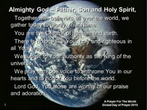A Prayer To 'Be Holy As God Is Holy'