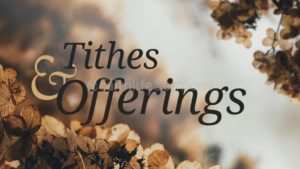 Prayer For Giving of Tithes or Offerings