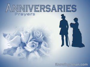 Prayer of Thanks for My Wedding Anniversary