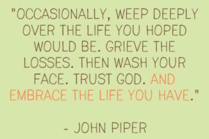 For Trust In The Disappointments Of Life