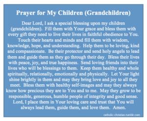 Prayer For All Our Grandchildren