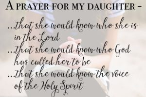 Mom's Prayer For Daughter
