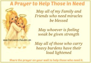 Prayers For Those That Are In Need