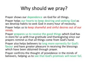 Prayer Repenting And Dependence