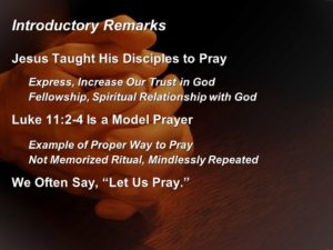 Prayer To Be Taught To Pray With Understanding