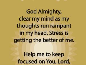 Prayer For A Clear Mind