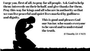 Prayer For All People, For Kings And Governors