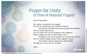 Prayer For Unity as One