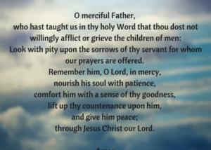 Prayer For A Sudden Loss