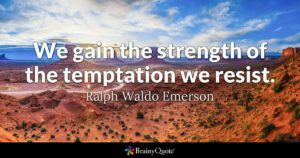 For Grace And Strength To Resist Temptations