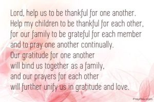 Prayer Of Gratitude For My Home And Family