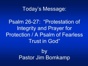Protection For Our Pastor's Purity