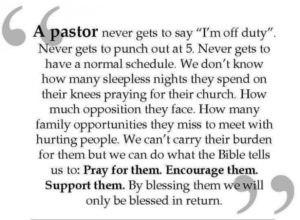 Prayer Of Encouragement For Our Pastor
