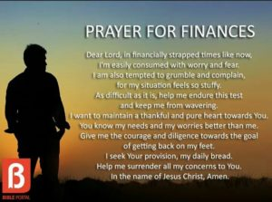 Prayer For Financial provision