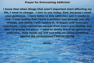 Prayer For Alcoholic Addiction Recovery