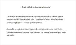 Thank You For My Scholarship