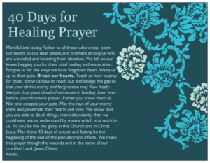 Prayer For Abortion Healing