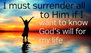 Prayer Of Surrender to God's Will