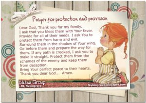 Prayer OF Thanks For God's Provision