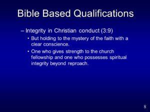 For Integrity in Christian Children