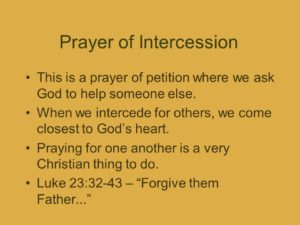 Prayer Of Intercession For All Christians