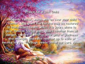 Prayer For A Sick Baby - Prayever