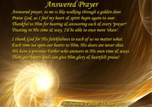 Gratitude For Answered Prayer